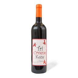 Vino crv.tri crvene koze 0.75l