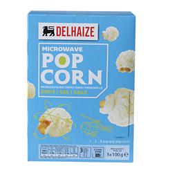 Pop Corn Delhaize slane kokice za mikrotalasnu 3X100g