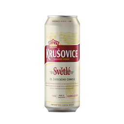 Pivo Krusovice svetle 0,5l CAN
