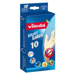 Rukavice latex Vileda M/L, 10/1