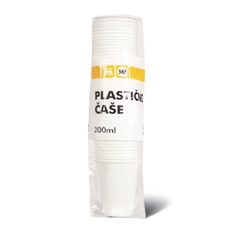Case plasticne bele 200ml 50/1 365