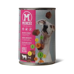 Konz.za pse sa ukus.govedine Moksi 415g
