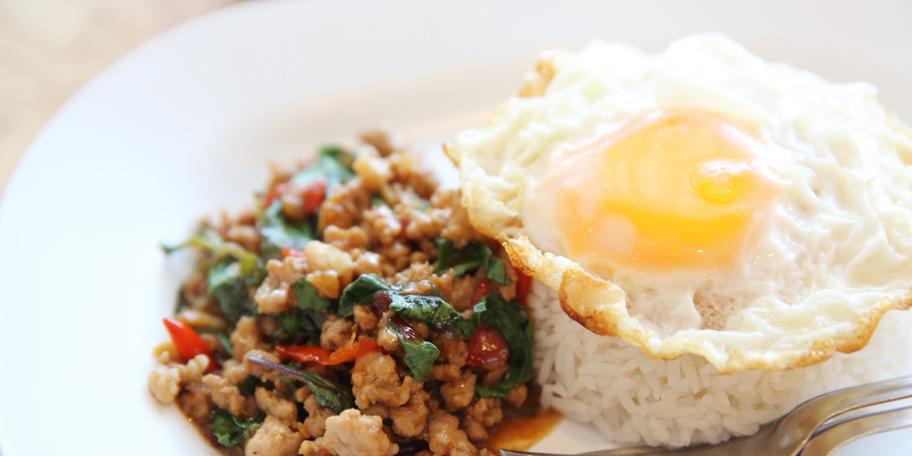 Svinjetina sa pirinčem i jajima