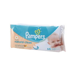 Maramice Pampers Natural Clean 64kom