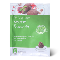 Mousse SteviaLine/cokolade i zasladj.75g