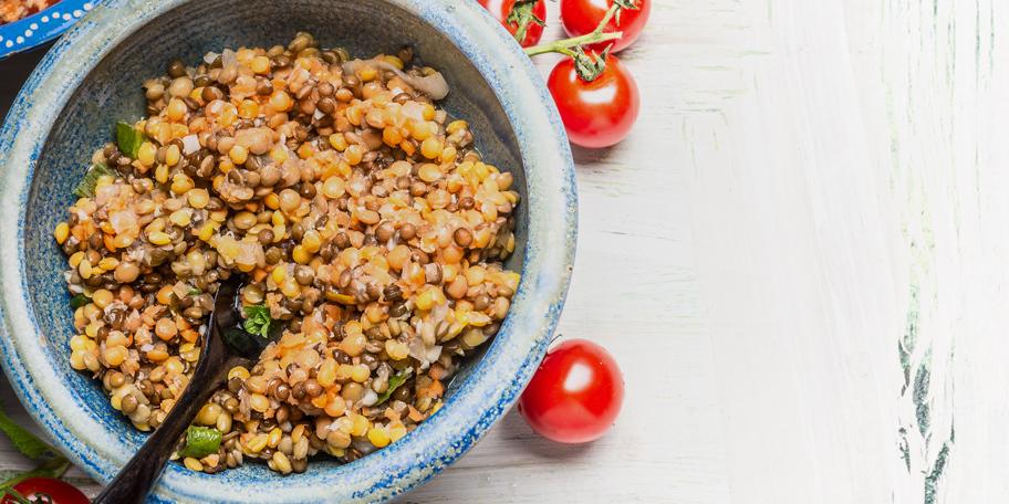 Salata od sočiva i tunjevine