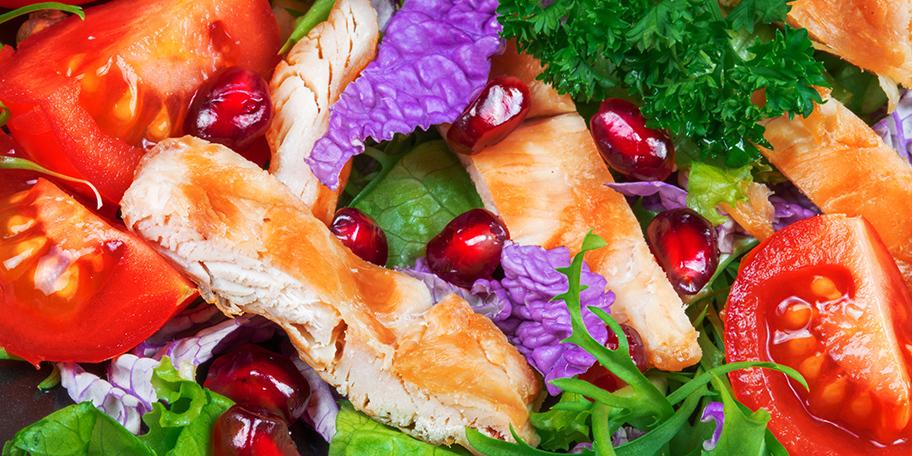 Salata sa piletinom i narom