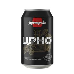 Pivo crno Zajecarsko limenka 0.33l
