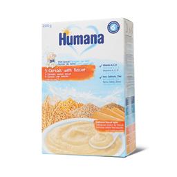 Humana ml.kasica/5 zitar./keks 200g +6m