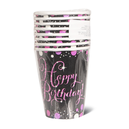 Sparkl Bday Pink case 1/8 Amscan 266ml