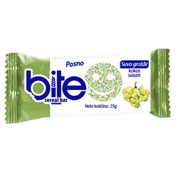 Bite Cereal bar suvo grozdje 25g