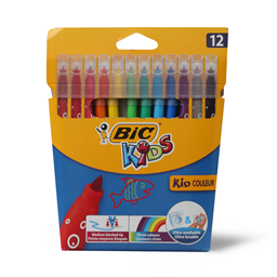 Flomasteri Kids Colour BIC blister 12/1