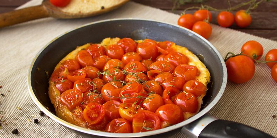 Omlet sa čeri paradajzom