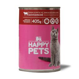 Hrana za macke/govedina Happy pets 405g