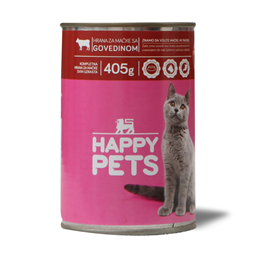 Hrana za macke/govedina Happy pets 405g