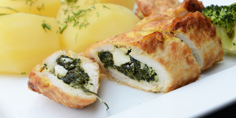 Piletina punjena spanaćem i feta sirom