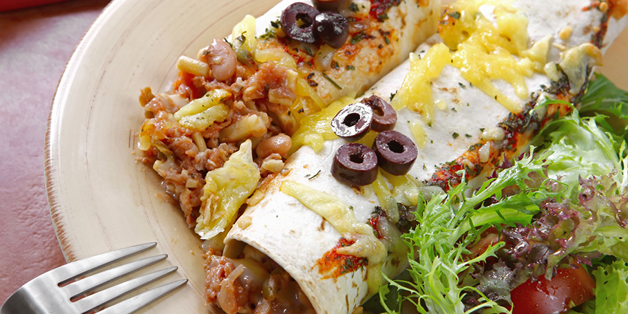 Tortilja sa mesom i povrćem