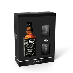 Whiskey Jack Daniel`s 0,7l+2 case