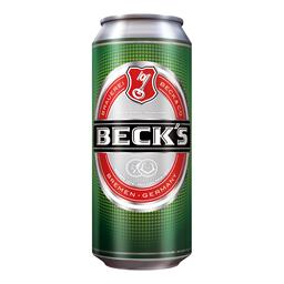 Pivo svetlo Becks limenka 0,5l