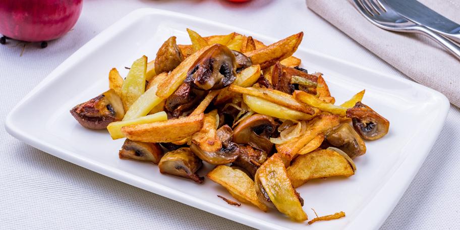 Pečeni krompir sa pečurkama