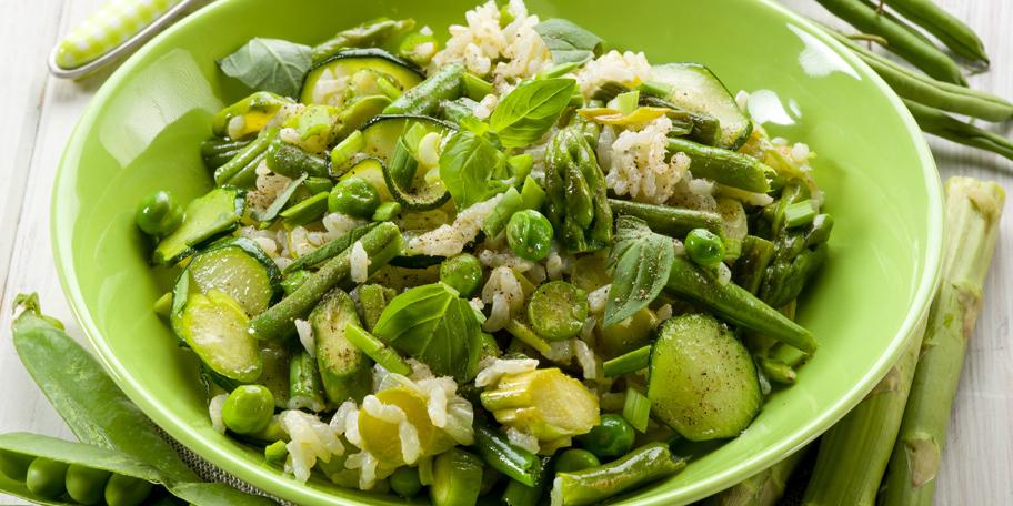 Rižoto sa asparagusom, boranijom i tikvicama