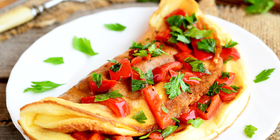 Omlet sa crvenom paprikom
