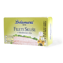Fileti skuse u medit.ulju 125g Dela