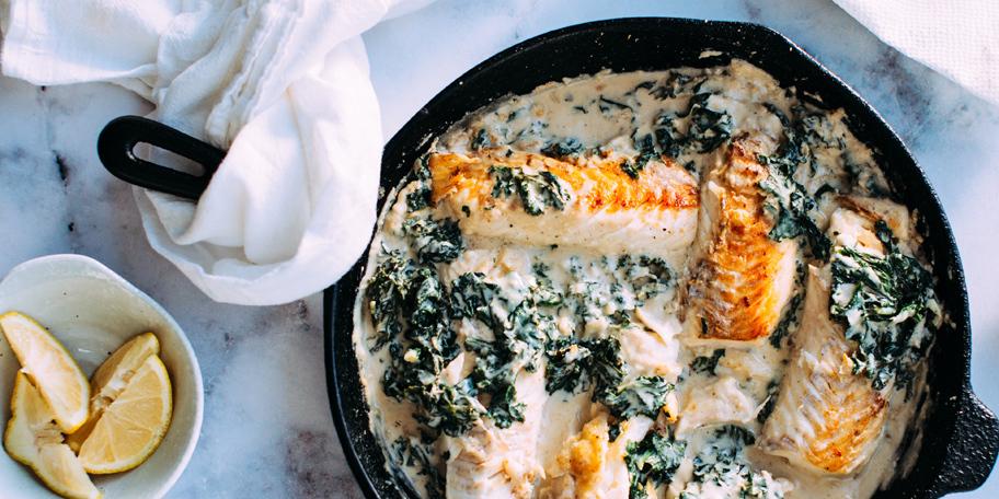 Prženi losos sa spanaćem