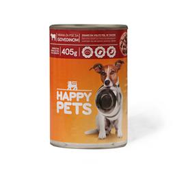 Hrana za pse sa govedinom Happy pets405g