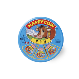 Sir topljeni Happy Cow ham 8x17,5g