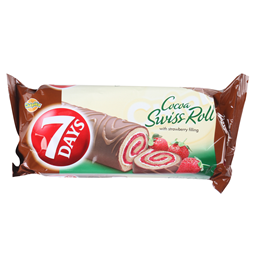 Rolat 7Days Cacao Swiss Rolss Straw.200g