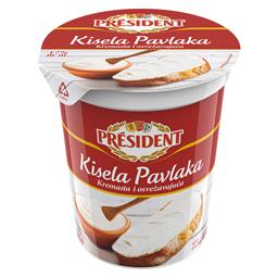 Kisela pavlaka President 17%mm 400g
