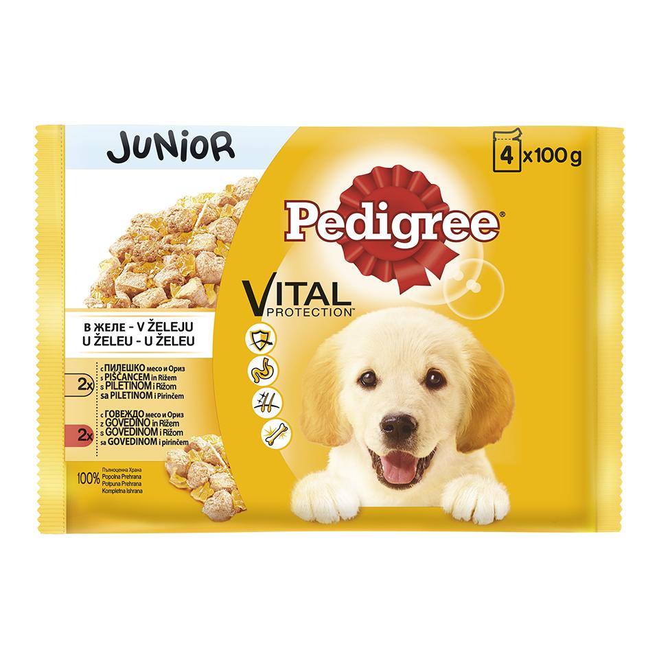 Kesice Pedigree Junior piletina i curetina 4x100g