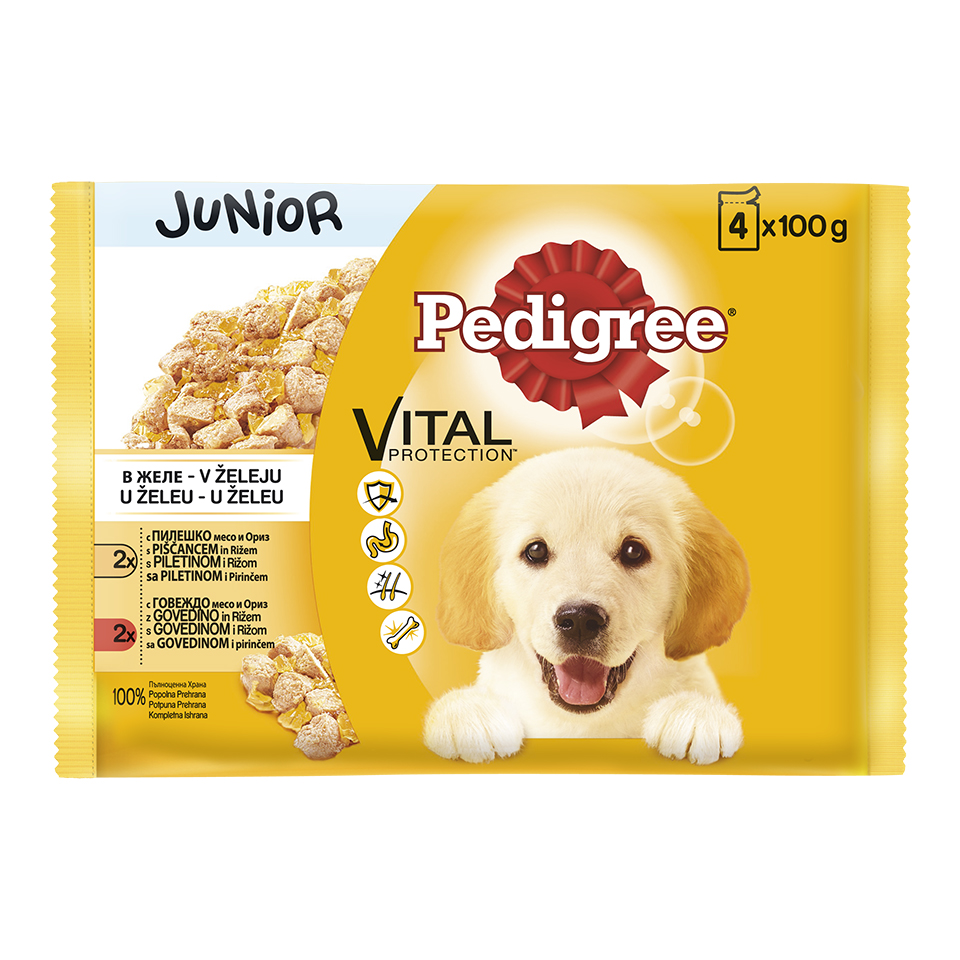 Kesice Pedigree Junior piletina i curetina 4x100g