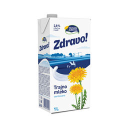 Mleko trajno 2.8%mm Zdravo Re Cap 1l