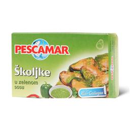Skoljke u zelenom sosu Pescamar 111g