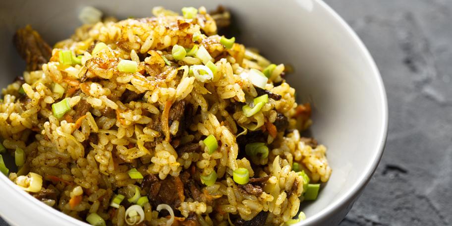 Juneće meso s pirinčem