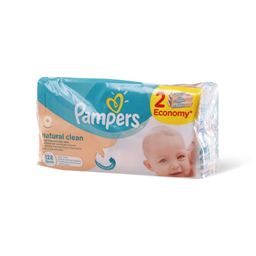 Maramice Pampers Natural Clean 2x64kom