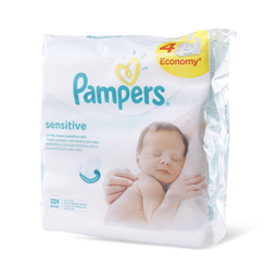 Maramice vlazne Pampers Sensitive 4x56